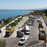 Vue aérienne de la recylerie de l'Arinella à Bastia
