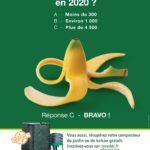 Affiche de la campagne compostage banane sur fond vert